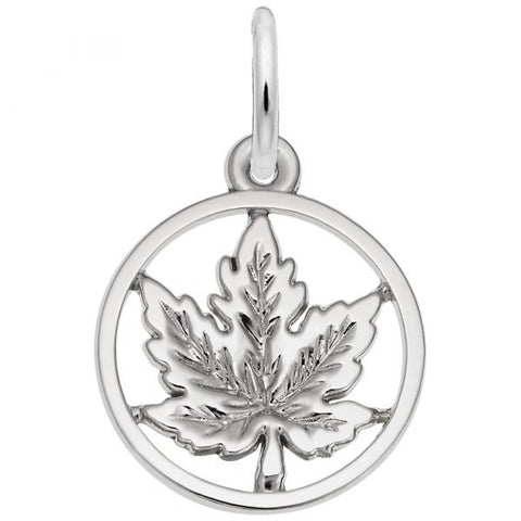 Sterling Maple Leaf Small Ring Pendant