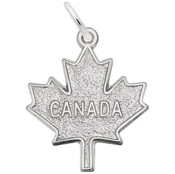 Sterling Flat Canada Maple Leaf Pendant