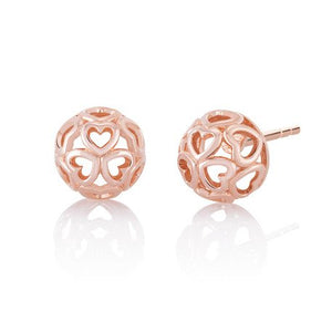 CHAMILIA BLUSH DELICATE HEART EARRINGS