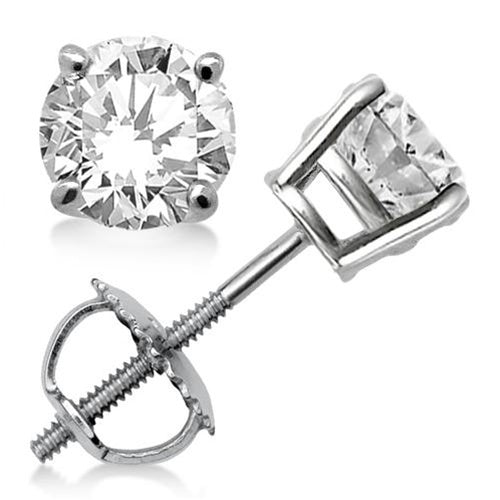 14kt White Gold 1.00ct tw Diamond Stud Earrings