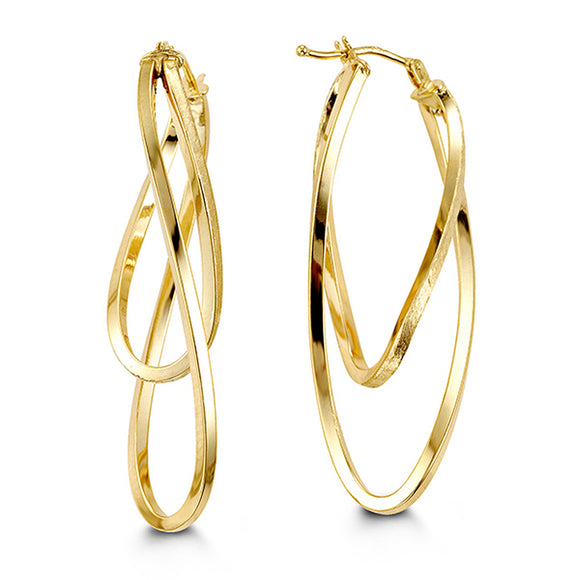 Bella Collection - Yellow Gold Hoop Earrings