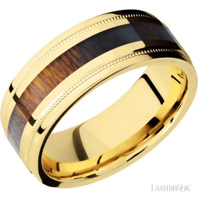 LASHBROOK - 14kt Gold w/Desert Ironwood Inlay