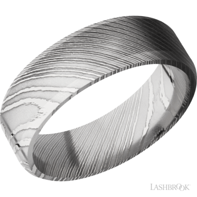 LASHBROOK -  Beveled Damascus Steel