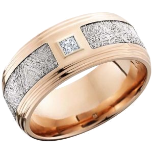 LASHBROOK - Diamond 14kt Rose Gold w/Meteorite Inlay