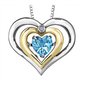 Pulse™ Blue Topaz Heart Pendant