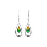 Elenor Sterling Silver Openwork Teardrop Earrings by Korite Ammolite