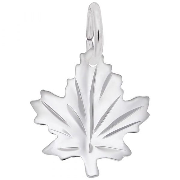 Sterling Silver Medium Maple Leaf Pendant