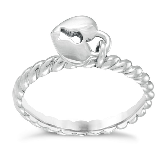 CHAMILIA HEART LOCK RING
