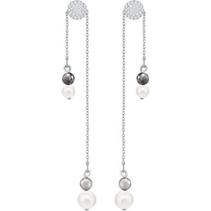 SWAROVSKI - CANOPY CHAIN PIERCED EARRINGS