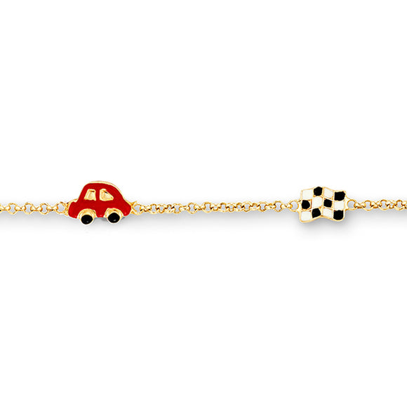 10kt Yellow Gold Car Baby Bracelet