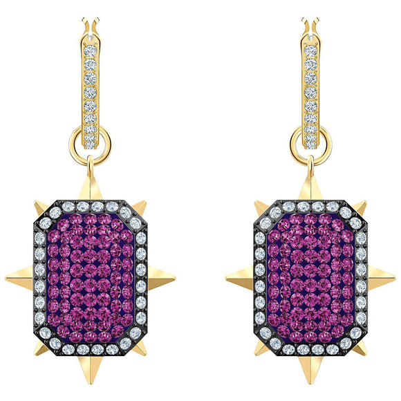 SWAROVSKI - TAROT MAGIC HOOP PIERCED EARRINGS