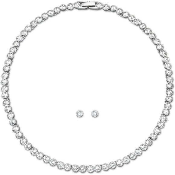 SWAROVSKI -  TENNIS SET, WHITE