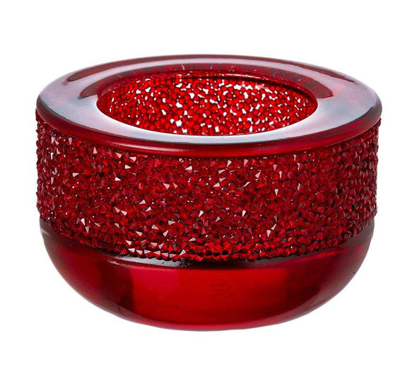 SWAROVSKI - SHIMMER TEA LIGHT, RED