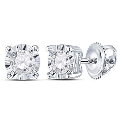 14kt White Gold .05ct tw Diamond Stud Earrings