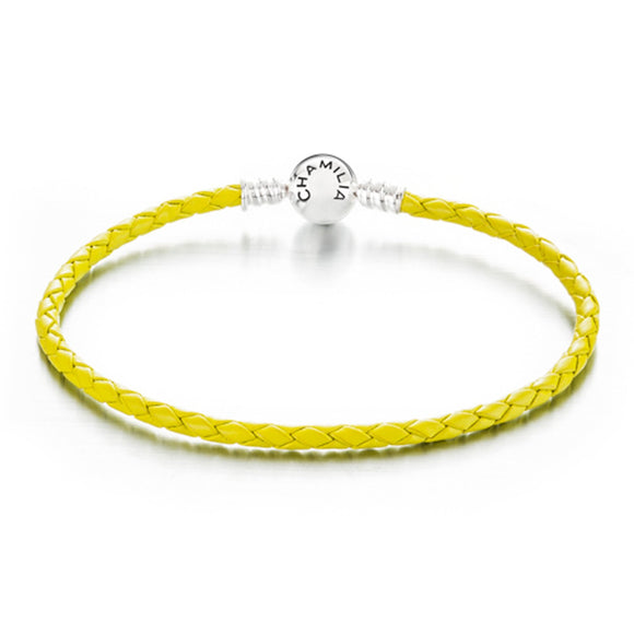 CHAMILIA LEATHER BRACELET, LIME GREEN
