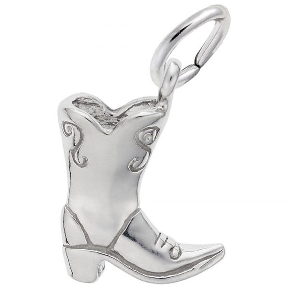 Sterling Silver Cowboy Boot Pendant