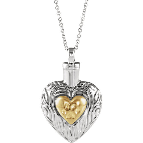 Sterling Silver Pet Heart Ash Holder 18