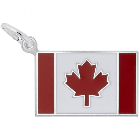 Sterling Silver Canadian Flag Pendant