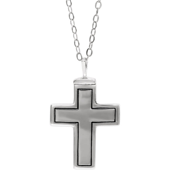 Sterling Silver Cross Ash Holder 18