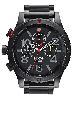 Nixon watch, 48-20 Chrono, All Black / Multi, A486-632-00