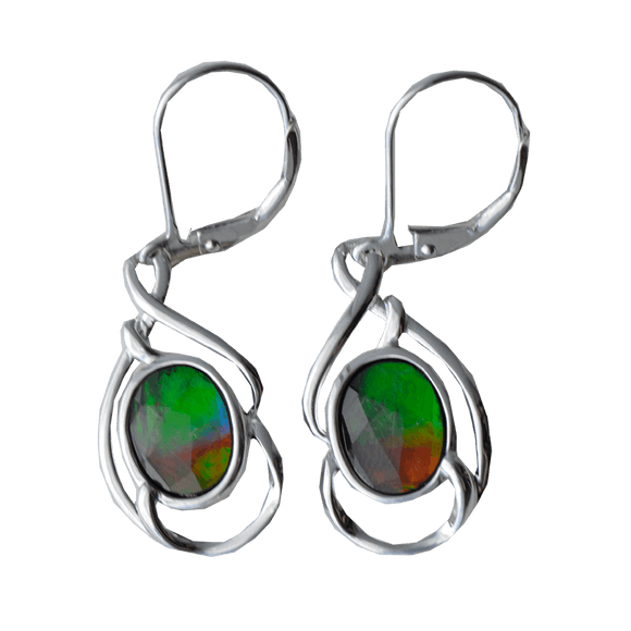 Arianna Sterling Silver Earrings by Korite Ammolite