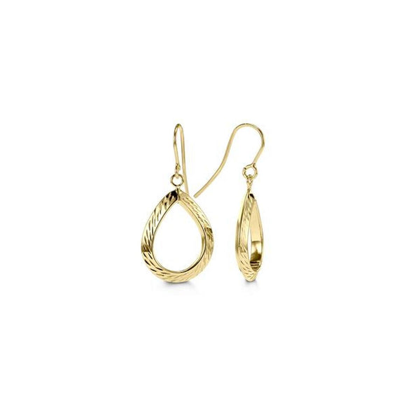 Bella Collection - Yellow Gold Dangle Earrings