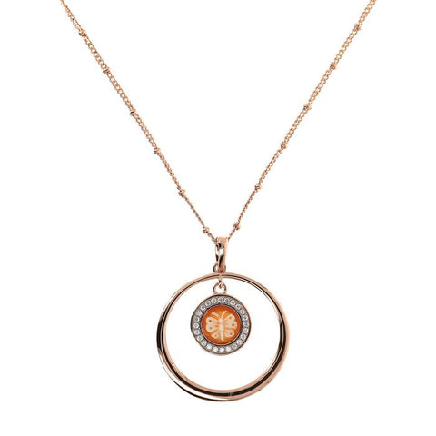 Bronzallure - Butterfly Cameo Necklace