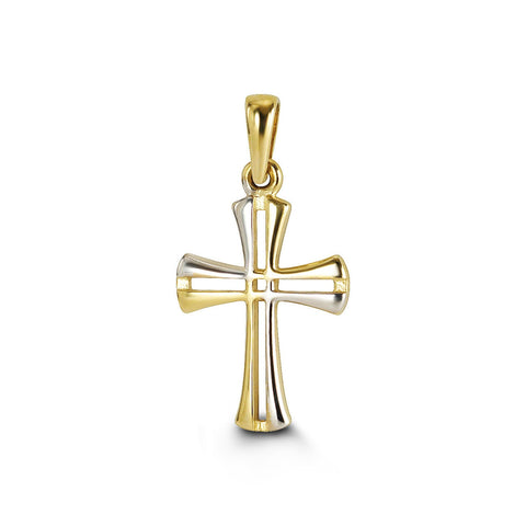 Bella Faith Collection - Two-tone Gold Cross