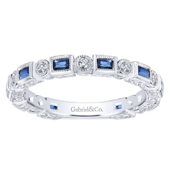 Gabriel & Co. - Sapphire - Stackable Collection