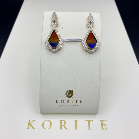 KORITE Ammolite Earrings, Baroque Collection