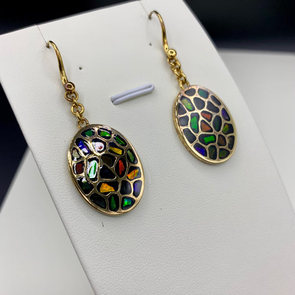 KORITE Ammolite Earrings, Element Collection
