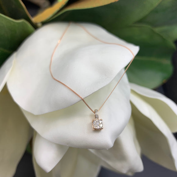 .10ct Rose Gold Diamond Necklace