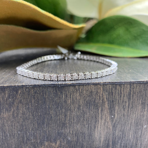 .56ct White Gold Diamond Tennis Bracelet
