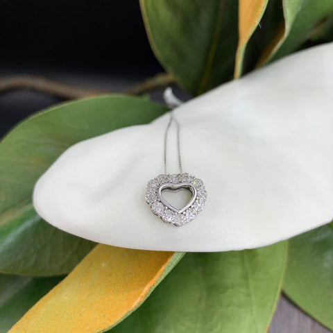 .15CT WHITE GOLD DIAMOND HEART NECKLACE