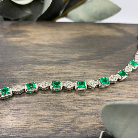 18kt Emerald & Diamond Bracelet