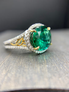 "Chrome Tourmaline  ""GOCCIA D'ORO"" Custom Design Ring"