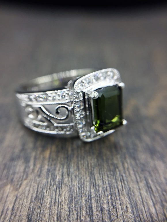 14KT GREEN TOURMALINE RING