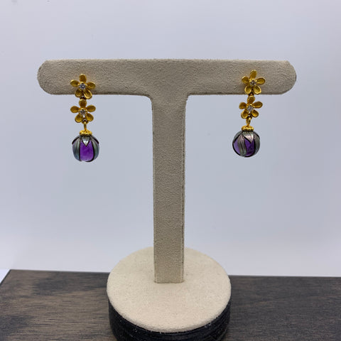 "Galatea ""Mercy Pearl"" with Amethyst Earrings"