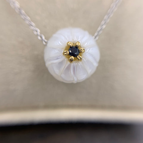 "Galatea ""Morning Glory"" Sapphire & Pearl Necklace"