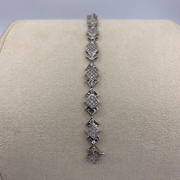 1.13ct White Gold Diamond Tennis Bracelet