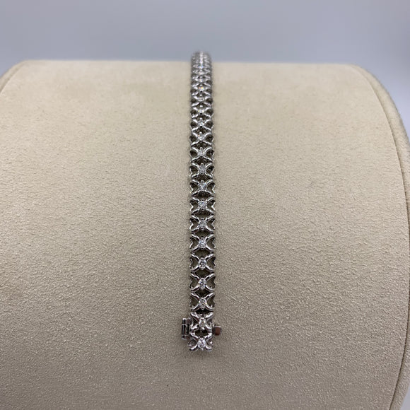 1.00ct White Gold Diamond Tennis Bracelet