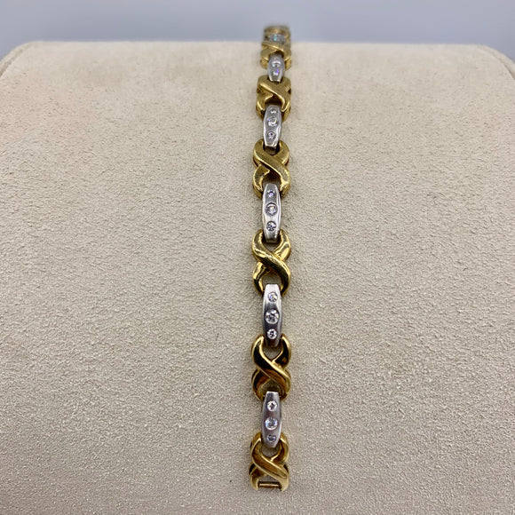 .50ct Two-tone Diamond Infinity Tennis Bracelet