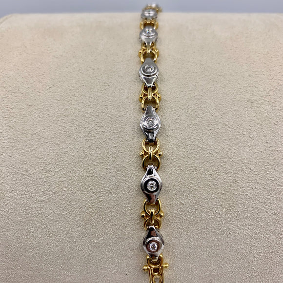 .45ct Two-tone Diamond Tennis Bracelet