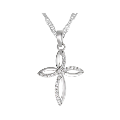 Legend Sterling Silver Cross Necklace