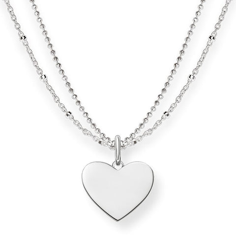Thomas Sabo Sterling Silver Heart w/Double Chain