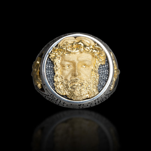 "Capitan Collection Capitan ""The Face Of Jesus"" Ring"