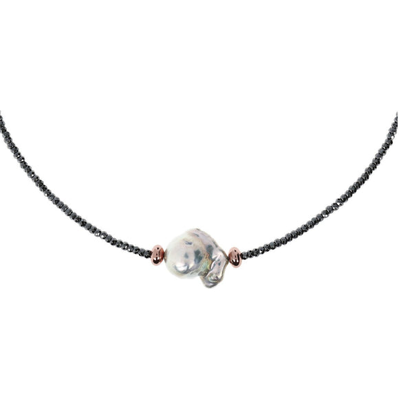 Bronzallure - Ming Pearl Short Necklace
