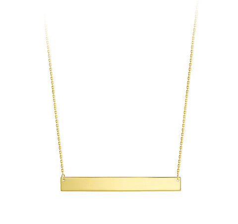 Bella Collection - 10kt Yellow Gold ID Necklace