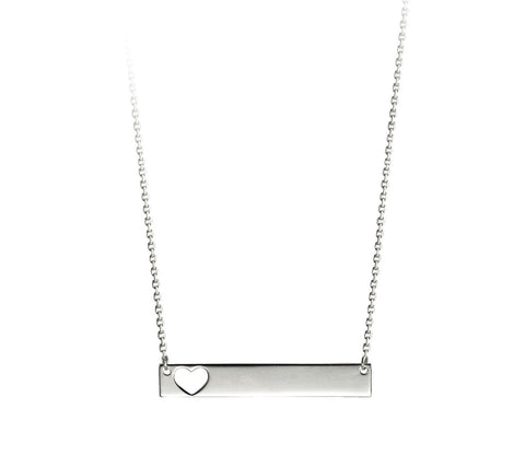 Bella Collection - 10kt White Gold ID Necklace