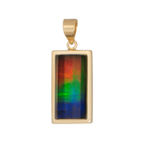 KORITE Priscilla 14K Yellow Gold Rectangle Pendant